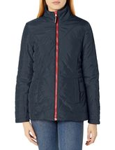 Tommy Hilfiger Rot Marine Damen 3 IN 1 Systems Jacke Mit Abnehmbare Kapuze Groß image 3