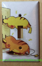 Pokemon Pikachu Battery Wall Charge Light Switch Outlet Cover Plate Home Decor image 1