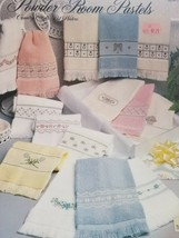 Counted Cross Stitch Book Powder Room Pastels for towels - $2.00