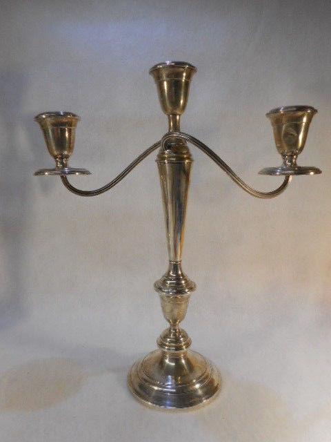 Antique Alvin Sterling Silver Candelabra Set Original Patina