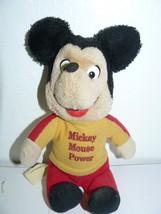 "Walt Disney Production Vintage Knickerbocker Mickey Mouse Power Bean Bag 8"" - $12.92"