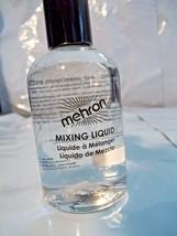 Mehron Mixing Liquid  Fluid Thins Liquid Makeup Metallic Powder  Ships Free - $10.84