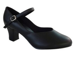 "So Danca CH52 Women's 4.5M (Fits 4) Black 2"" Heel Character Shoe (with D... - $9.89"