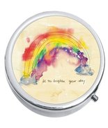 Rainbow Brighten Your Day Medicine Vitamin Compact Pill Box - $9.78