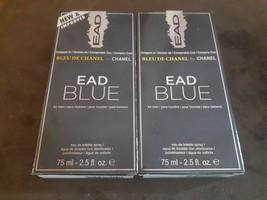 2x EAD Blue Men's Cologne 2.5 oz ea. smells Bleu de Chanel by Chanel NIB - $15.87