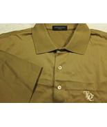 Neuf Peter Millar Solide Marron Coton Golf Polo Chemise M Tdc Logo - $44.99