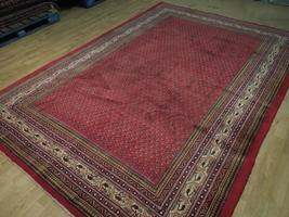 Vivid Boteh Flamed All-Over Persian Hand-Knotted 7x10 Red Mir Wool Area Rug image 5