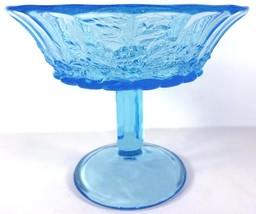 "Westmoreland Glass Brandywine Blue Paneled Grape 6""t Flared Rim Open Com... - $49.99"