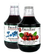 "1 Quart Tart Cherry & 1 Quart Wild Blueberry ""Cold Filled"" Juice Concent... - $54.95"