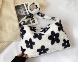Fashion Women Fur Handbags Furry Fluffy Shoulder Top-handle Bag for Women - $23.99