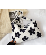 Fashion Women Fur Handbags Furry Fluffy Shoulder Top-handle Bag for Women - £17.22 GBP