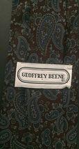 Geoffrey Beene Dark Paisley Tie Necktie Burgundy Blue Cohoes Silk Italian Made image 3
