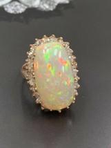 18k or Rose Australien Précieux Opale et Diamants Déclaration Anneau - $4,505.86