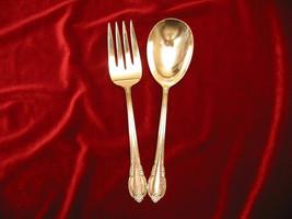 REMEMBRANCE Silverplate 1847 Rogers MCM Flatware Casserole Spoon & Fork Set - $34.64