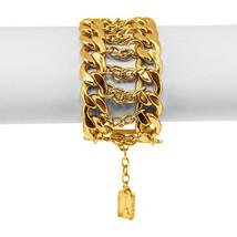 "Ultra Glam Karine Sultan ""Katy"" 4-Row Gold Textured Metal Statement Cuff image 6"