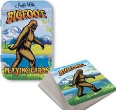 Bigfoot Juego Cartas Póker Tarjetas Solitaire de Novedad Regalo - $9.24