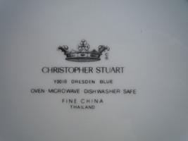 Christopher Stuart Dresden Blue Sugar Bowl and Lid image 2