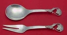 "Pattern Unknown by Frank Whiting Sterling Salad Serving Set Lrg Grapes/Vines 9"" - $483.55"