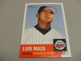 2002 Topps Heritage #442 Luis Maza SP Short Print Minnesota Twins - $3.12