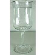 Lenox Moonspun Water Goblet  Platinum Trim - $36.39