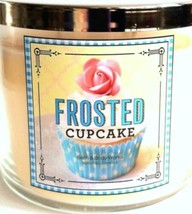 Bath & Body Works Frosted Cupcake 3 Wick Candle 14 oz Candy Shop 2015 - $27.51