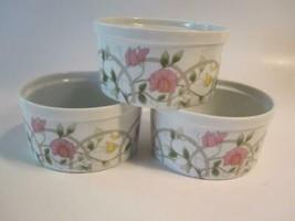 "Interlude by Shafford Set 3 Ramekins Fine Porcelain Souffle Dishes 2"" x ... - $19.75"