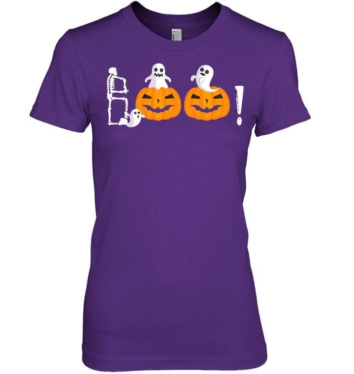 Funny Pumpkin Shirt Halloween Ghost Boo Sweatshirt