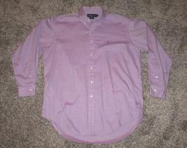 Ralph Lauren Yarmouth Men's Long Sleeve Dress Shirt, Purple Gingham, 16 ... - $11.29