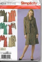 Simplicity 4014 Misses Womens Coat Jacket Dress BB 20 22 24 26 28 Uncut - $3.95