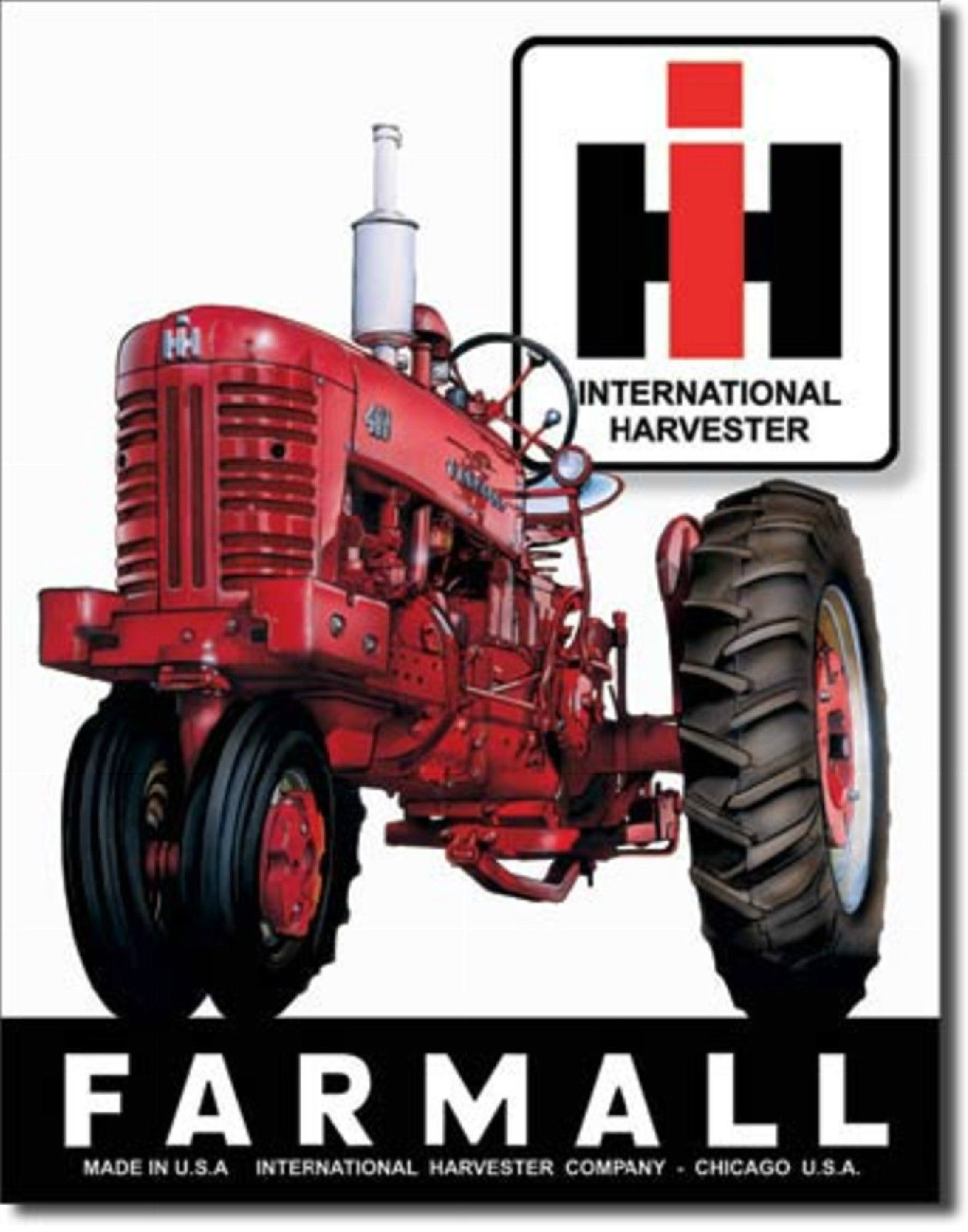 Farmall International Harvester Tractor  Metal Sign Tin New Vintage Style #839