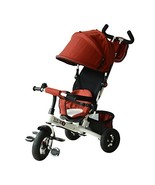 Qaba 2-in-1 Lightweight Steel Adjustable Convertible Tricycle Stroller -... - $128.55