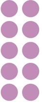 "1-1/2"" Lilac Round Color Coded Inventory Label Dots Stickers MADE IN USA - $2.49+"