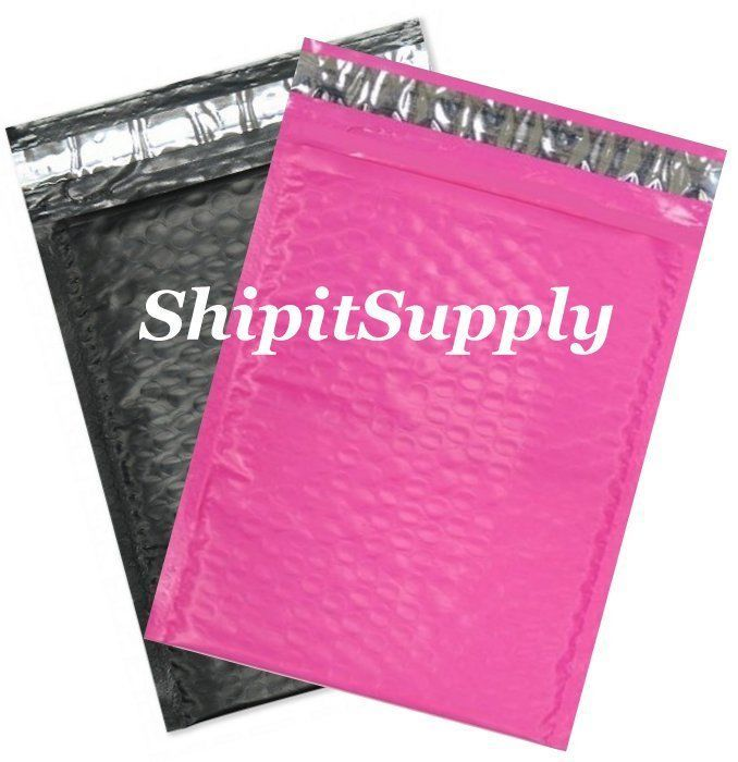 2-500 #0 6x10 Poly ( Black & Pink ) Color Bubble Padded Mailers Fast Shipping