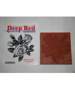 Rubber Stamps - Deep Red CLING STAMPS - ROSE BLOOMS - $8.00