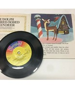A Little Golden Book & record Rudolph the Red-Nosed Reindeer 1976 - $16.82