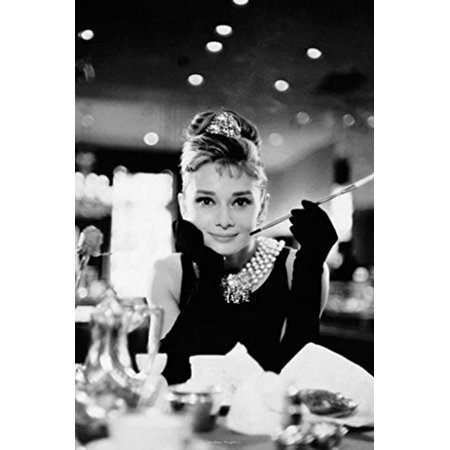 Breakfast at tiffany s table poster bw 24x36