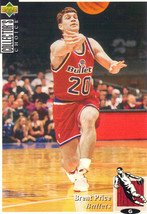 1994-1995 Upper Deck Collector's Choice Card Brent Price #320 Washington... - $1.97