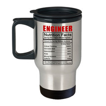 Engineer Nutrition Facts Best Funny Gift for Him Her Engineers -14 oz Tr... - $18.55