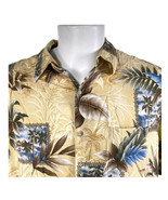 Croft & Barrow XL Palm Trees Boats Huts Islands Rayon Hawaiian Shirt - $29.69