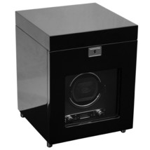 WOLF 2.7 Savoy Single Automatic Watch Winder with Storage Black NEW - $549.00
