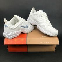 Nike Damen T-Lite III Leder Training Sneakers Größe 8.5 Weiß Neu in Box ... - $116.72