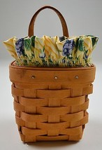 Longaberger 1997 Chive Basket Combo With Liner & Protector collectible Decor - $34.99