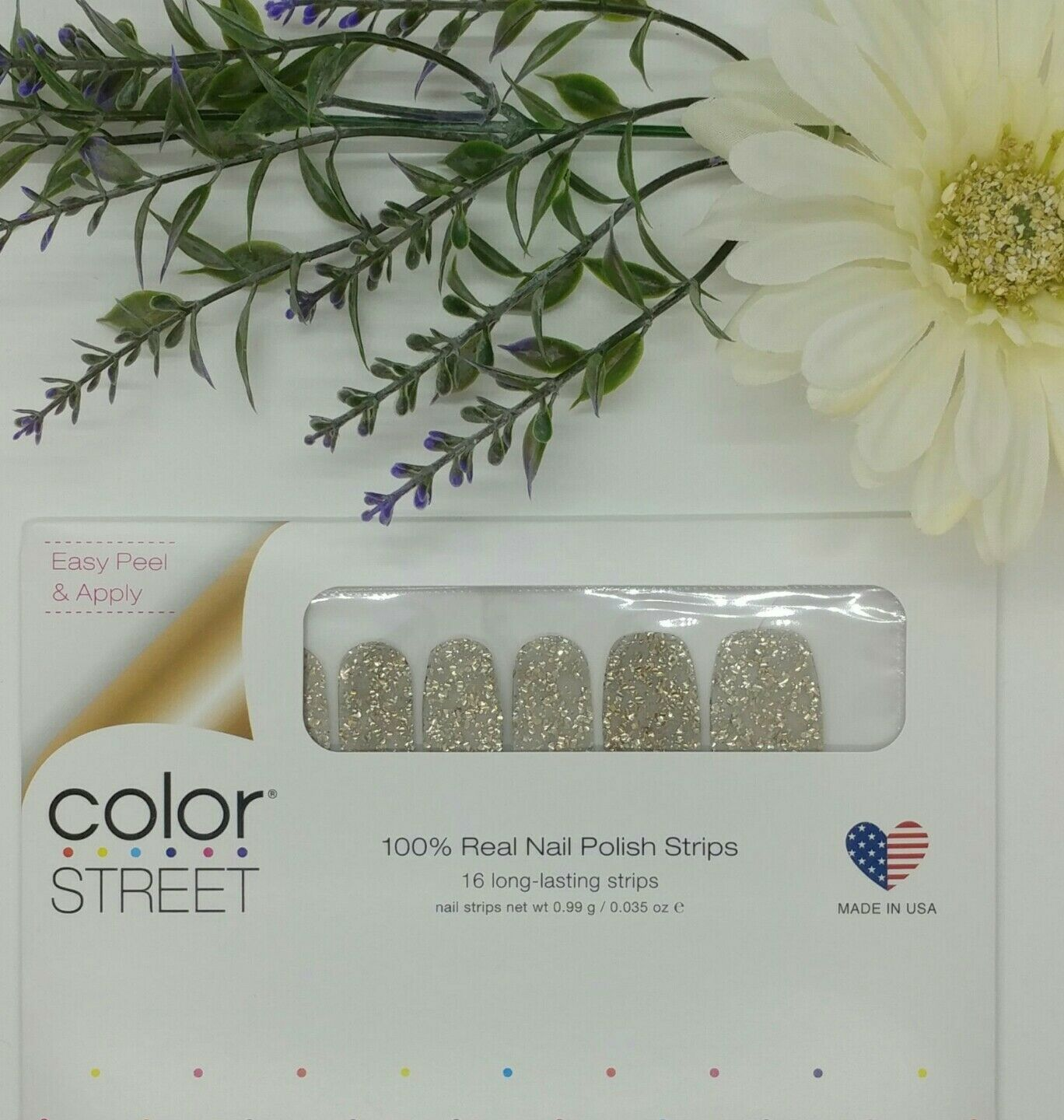 Chica-Gold-Color Street 100% Real Nail Polish Strips -  NIP!