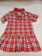 New just one you Carter's cute plaid red baby dress size 12 months - $8.90