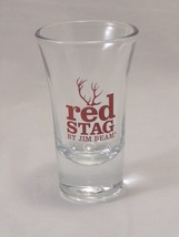 Red Stag By Jim Beam Shot Glass W/Red Antlers - $7.99