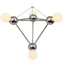 Four Lights Pyramid Modern Brass Minimal Geometric Chandelier Light Fixture - £391.71 GBP