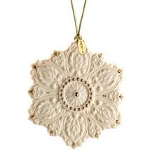Lenox 2014 Snowflake Ornament 125th Anniversary Bas- Relief Gold Christm... - $69.30