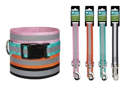 Reflective Safety Dog Collars & Leads Bright Color Stylish Safe For Walking Dogs - $10.39+