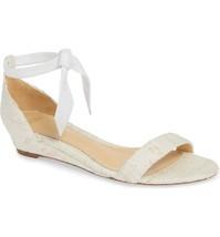 ALEXANDRE BIRMAN WHITE Clarita Wedge Sandal Size 36.5 - $522.08 CAD