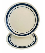 """Set of 2 Vintage Ashland China Plates Navy Blue STRIPE 8.5"""" Restaurant W... - $23.75"""